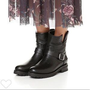 Frye Natalie Shearling Engineer Boots